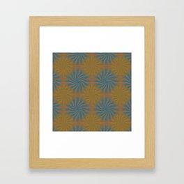 3D Spirals Framed Art Print