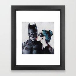 BAT AND CAT Framed Art Print
