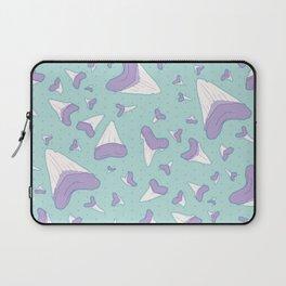 Shark Teeth // Beauty Bytes // Purple & Mint Laptop Sleeve
