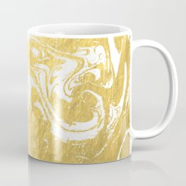Suminagashi spilled ink gold marble marbled pattern japanese minimalist nursery dorm college Coffee Mug