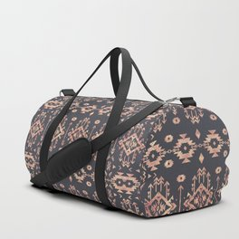 Trendy tribal geometric rose gold pattern Duffle Bag