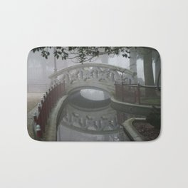 A bridge in the park Bath Mat