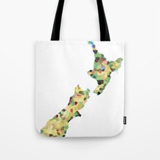 Map of New Zealand  Tote Bag