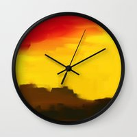 morocco Wall Clocks featuring Morocco by Robert Morris