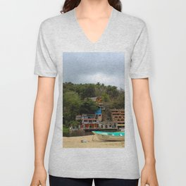 Dreamy Mexican Beach Day Unisex V-Neck