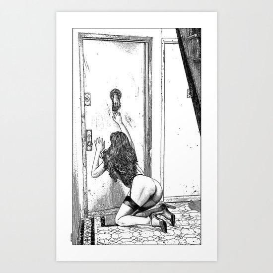 asc 700 - L'audience reportée (The missed handshake) Art Print