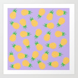 Abstract Pineapple Pattern Art Print