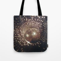 disco Tote Bags featuring disco by oanauciuf