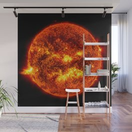 The Surface of The Sun - Burning Star Wall Mural