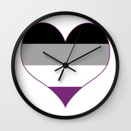 Asexual Heart Wall Clock