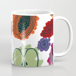Colorful Fruit Cross Sections Surface Pattern Design Coffee Mug