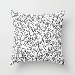 Middle fingers of Mickey Mouse Throw Pillow