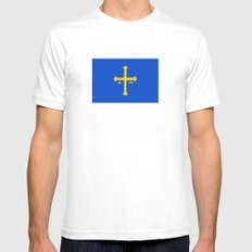 Asturias flag spain country region Mens Fitted Tee MEDIUM White