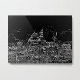 Istanbul in BW Metal Print