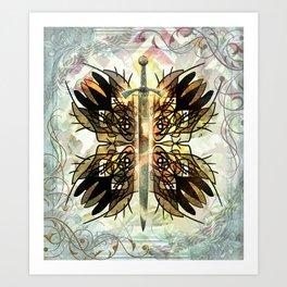 Golden Fairy Sword Art Print