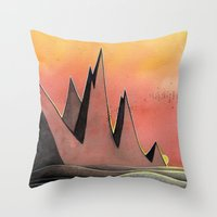 hare Throw Pillows featuring Hare by Kristin Rian