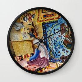 Turkish Rug Weaver by Nadia J Art Wall Clock
