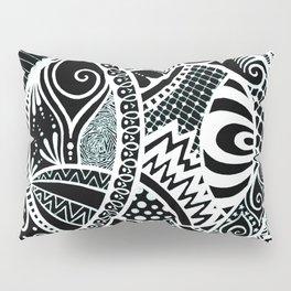 White tangled circles Pillow Sham