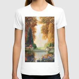 Silver and Gold - Luxuriant Autumn Garden by Thomas Mostyn T-shirt