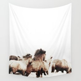 WILD AND FREE 2 - HORSES OF ICELAND Wall Tapestry
