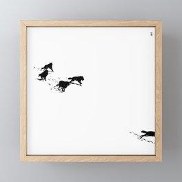 snowblinded // (wolf pack) Framed Mini Art Print