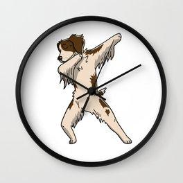 Funny Dabbing Brittany Spaniel Dog Dab Dance Wall Clock