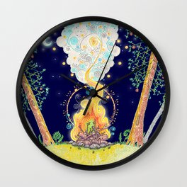 Woodland Campfire Wall Clock