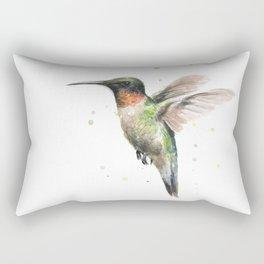 Hummingbird Watercolor Rectangular Pillow
