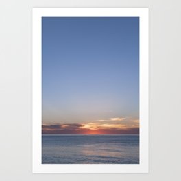 Sunset at Etretat, France Art Print