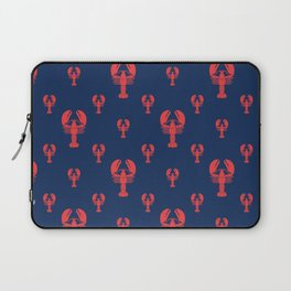 Lobster Squadron on navy background. Laptop Sleeve