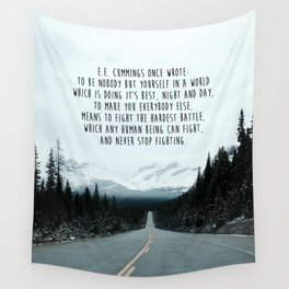 Quote for The Road Wall Tapestry