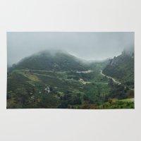 europe Area & Throw Rugs featuring Peaks of Europe 2 by Svetlana Korneliuk