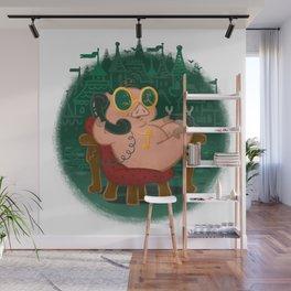 Emerald Piggy Wall Mural