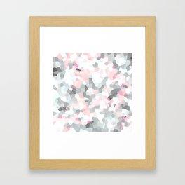 geometric mix/ grey  Framed Art Print