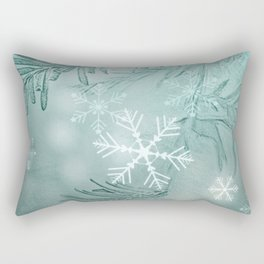 magical snow Rectangular Pillow