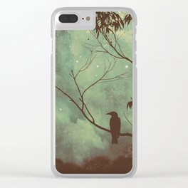 Watching Night Fall Clear iPhone Case