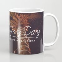 taco Mugs featuring Taco Tuesday by Zeke Tucker