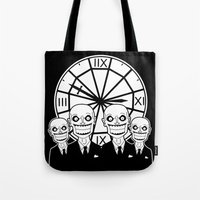 buffy the vampire slayer Tote Bags featuring Buffy the Vampire Slayer -- The Gentlemen by BovaArt