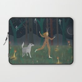 Wild Woman in the Forest Laptop Sleeve