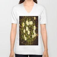 daisy V-neck T-shirts featuring Daisy by ArtSchool
