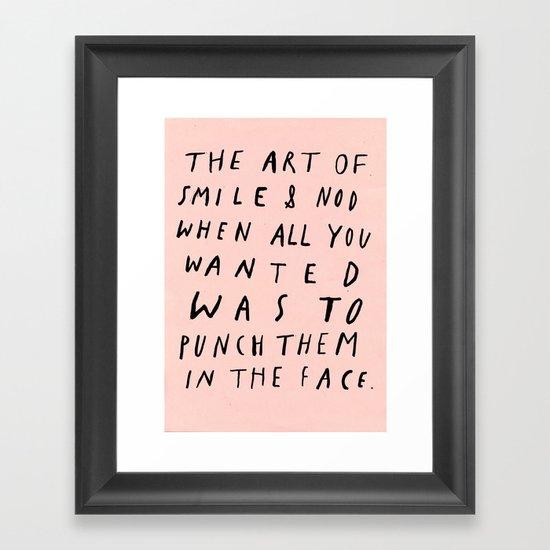 THE ART OF Framed Art Print
