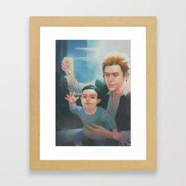 Han Solo and little Ben Solo Framed Art Print