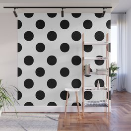 Polka Dots (Black/White) Wall Mural