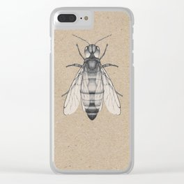 Bee pencil drawing Clear iPhone Case