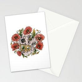 Skull and poppys Stationery Cards