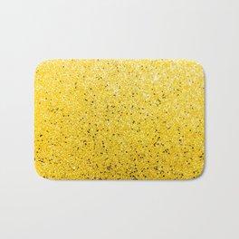 Vibrant Glittery Golden Sparkle Bath Mat