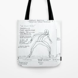 On Your Mark Drawing, Transitions through Triathlon Tote Bag