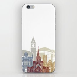 Brampton skyline poster iPhone Skin