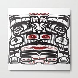 Thunderbird Bear Orca Totem Pole, coastal pacific north west formline design Metal Print