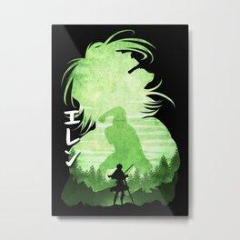 Minimalist Silhouette Eren Metal Print